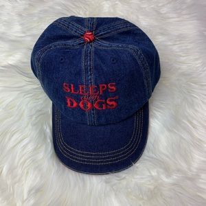 SLEEPS WITH DOGS HAT #2 . SO AWESOME I BOUGHT TWO!